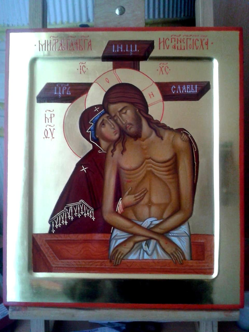 Икона Богородицы «Не Рыдай Мене Мати» («Оплакивание Христа»)