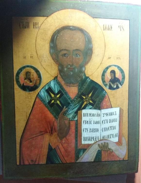 Реставрация иконы св. Николай Чудотворец