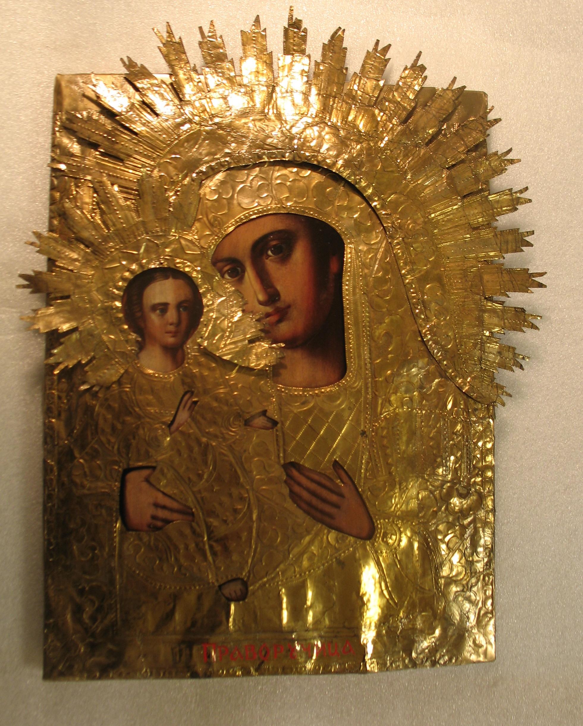 Реставрация иконы Божией Матери Праворучица