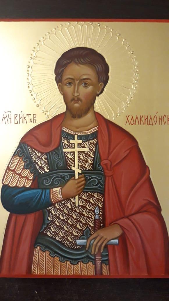 Пошаговое написание иконы св. мч. Виктора Халкидонского