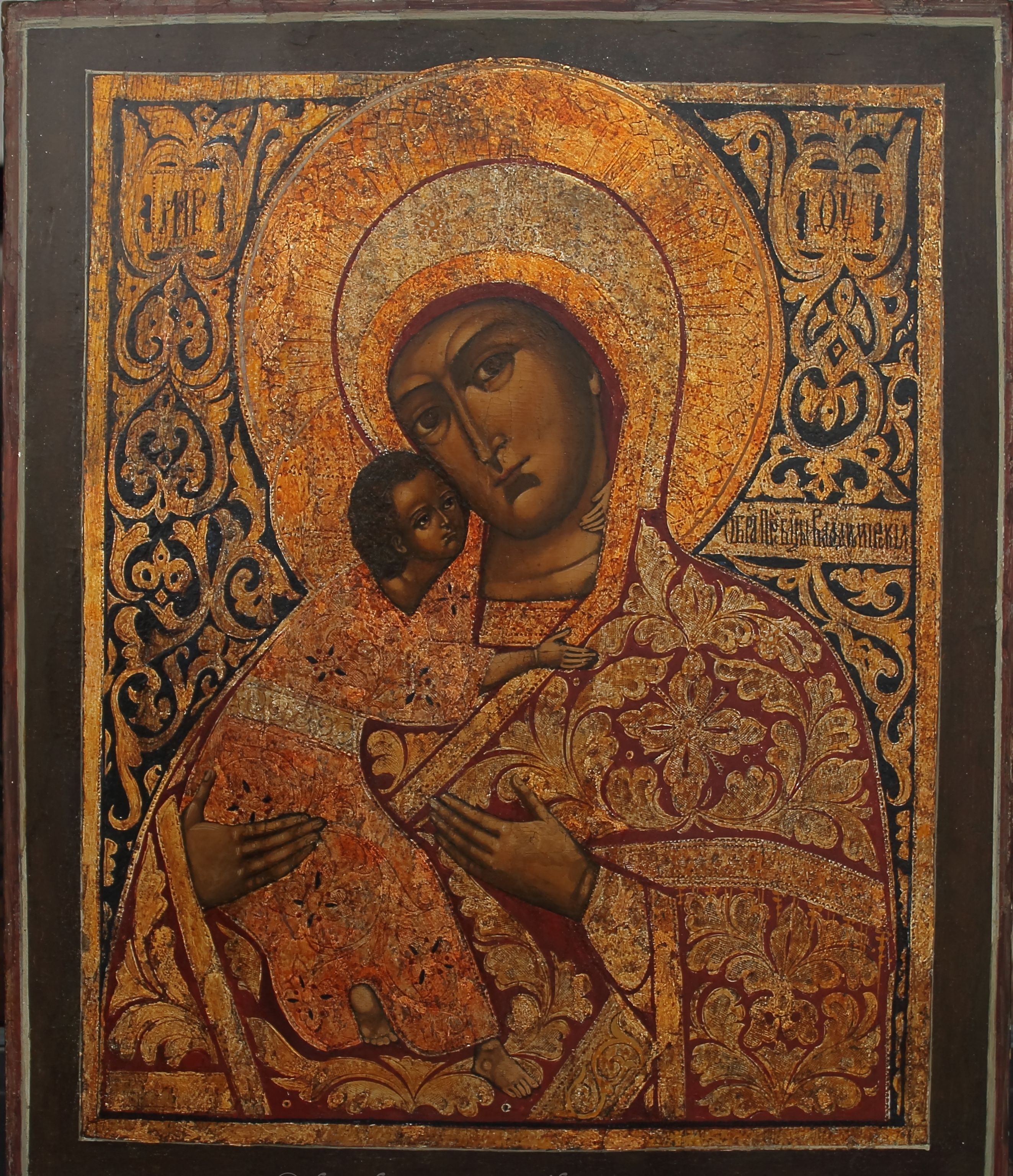 Реставрация иконы Владимирской Божией Матери
