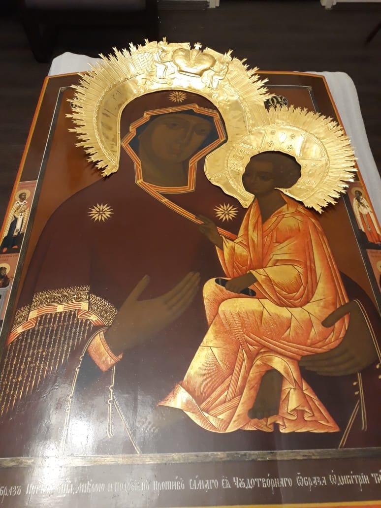 Реставрация иконы св. Б.М. Тихвинская