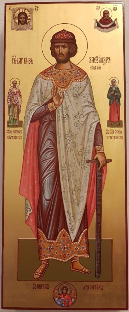 Св. Александр Невский с предстоящими