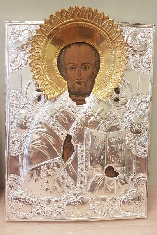 Реставрация оклада св. Николая Мир Ликийского