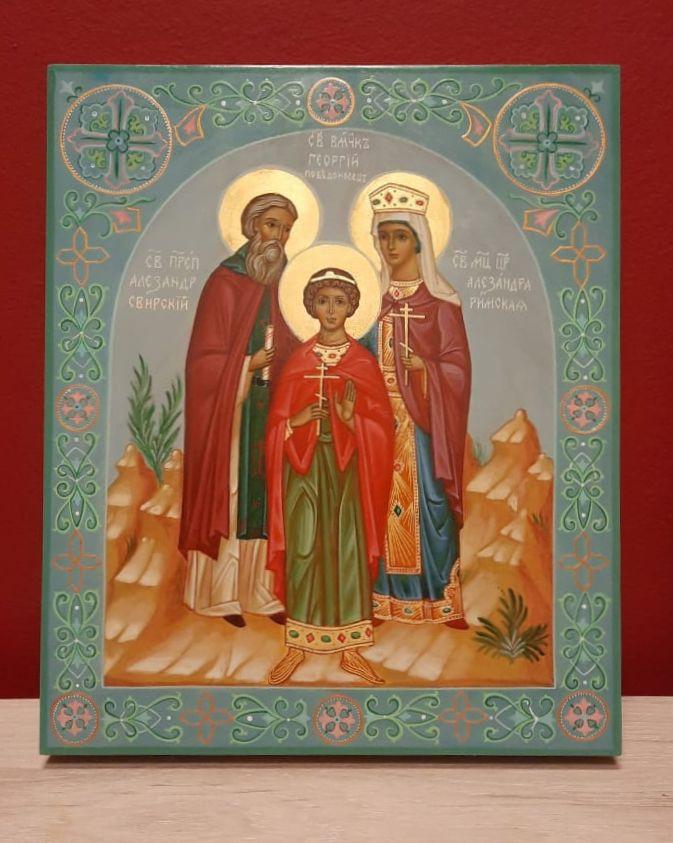 Семейная икона с орнаментом