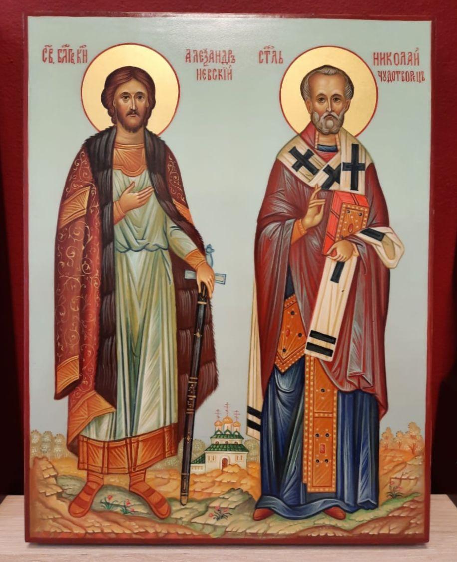 Св. блг. кн. Александр Невский и св. Николай Чудотворец